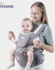 Sunveno Baby Carrier Ergonomic Infant Hip seat Carrier Kangaroo Sling Front Facing Backpack Carrier Baby Travel Activity Gear Baby Kid Toys Infant Toys color: Gray H