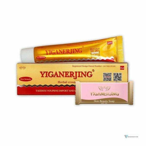 YIGANERJING (without retail box) Skin Psoriasis Cream Dermatitis Eczematoid Eczema Ointment Bags Fashion Women's Fashion size: 1
