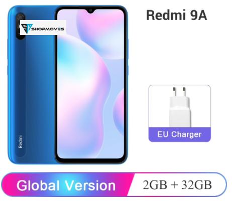 Global Version Xiaomi Redmi 9A 9 A 2GB RAM 32GB ROM Mobile Phone MTK Helio G25 Octa Core 13MP AI Rear Camera 6.53″ HD+ 5000mAh Android Phones Mobile Phones Phones & Tablets Smartphone