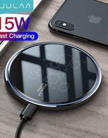 KUULAA Qi Wireless Charger 15W Phone charger For xiaomi mi 11 10s Wireless Charging Pad For iphone 12 11pro max mini x xr 8 plus Mobile Phones Phone Cases Phones & Tablets