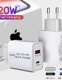 PD 20W USB Type C Charger LED Adapter Fast Phone Charge For iPhone 12 11 Pro Max X Xs Xr 7 AirPods iPad Huawei Xiaomi LG Samsung Mobile Phones Phone Cases Phones & Tablets