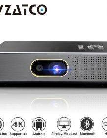 WZATCO S5 Portable MINI DLP 3D Projector 4K 5G WIFI Smart Android for Home Theater Beamer Full HD 1080P Video lAsEr Proyector Home Theatre System Projectors Screen Protectors